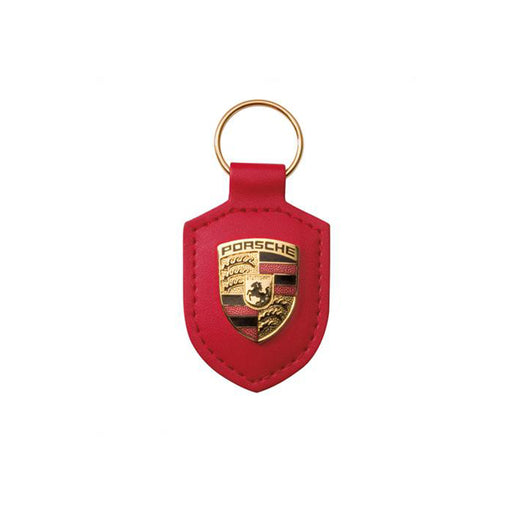 Porsche - Crested Red Keyring