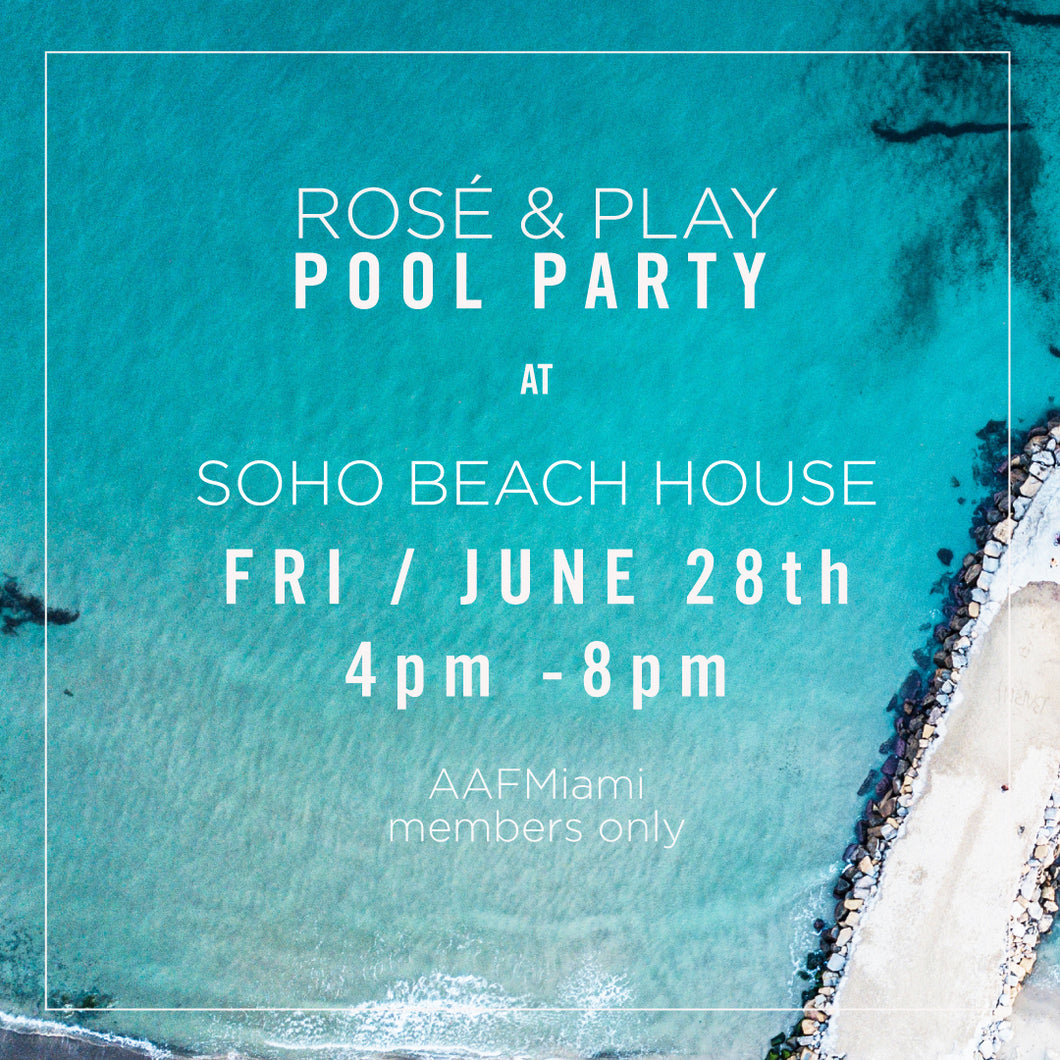 Soho House Rosé Pool Party