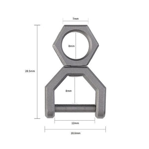 CH5 Titanium rotatory D shape key ring