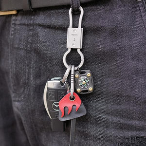MecArmy CH22 Vintage Titanium Two-way carabiner Keyring