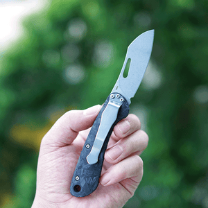 MecArmy EK3RC Luminous Carbon Fiber Non-locking EDC Pocket Folding Knife