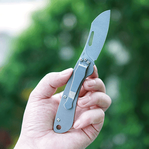 MecArmy EK3RT Titanium Non-locking EDC Pocket Folding Knife