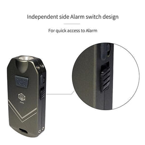 SGN6 738 Lumens USB Rechargeable Personal Attack Alarm and Multifunction Flashlight