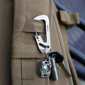 MecArmy EH3 Multifunctional EDC Carabiner * Keychain+Pry bar+ Wrench+ Bottle opener