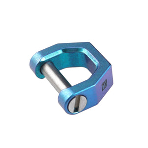 CH2 Titanium D shape key ring