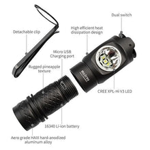 MecArmy FM Series Dual Switch Angle Flashlight