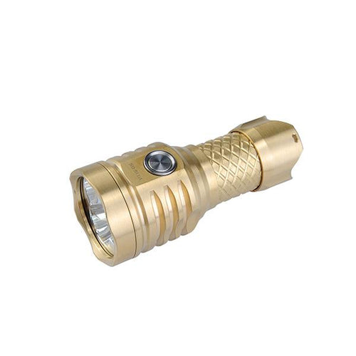 MecArmy PT16-BS USB Rechargeable 1200 Lumens Brass EDC Flashlight