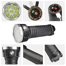 MecArmy PT80 9600 Lumens USB Rechargeable Search Flashlight