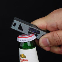 MecArmy Titanium EDC Bottle Opener/Prybar/Ruler_RL2_open bottle
