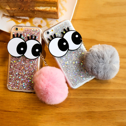 Glitter Big Eye iPhone Case