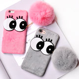 Rabbit Fur Case For iPhones