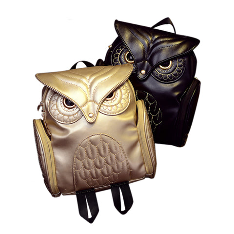 Leather Owl Bag