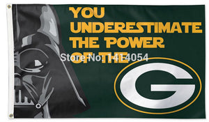 Green Bay Packers Star Wars Flag 150X90CM Banner 100D Polyester3 ft x 5ft Custom grommets 1024, free shipping