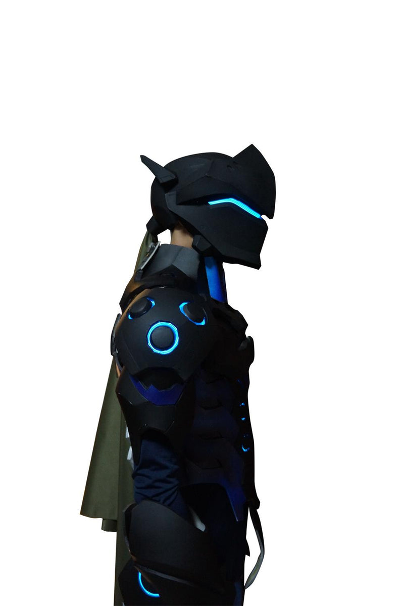 Over Watch Genji's  Full Body Armour Suit Black Edition With Lights