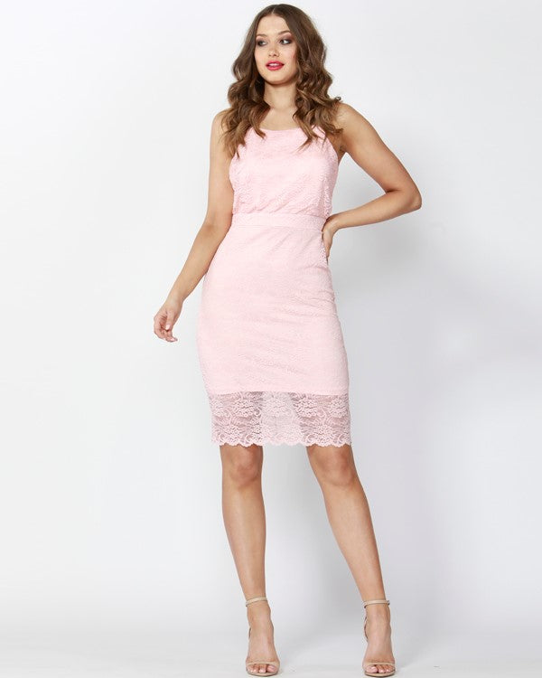 High stakes lace dress SASS