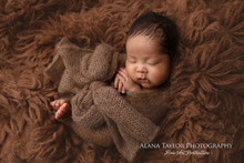 Brushed Alpaca Wrap - Soft, fuzzy wraps in Pecan