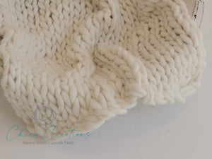 Chunky Merino Mini Blanket - Off White - matches French-Angora knits