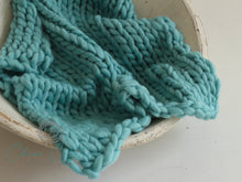 Chunky Merino Mini Blanket - Biscayne - matches French-Angora knits