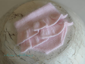 Fine Angora Ruffle Bottom Bloomers - Newborn