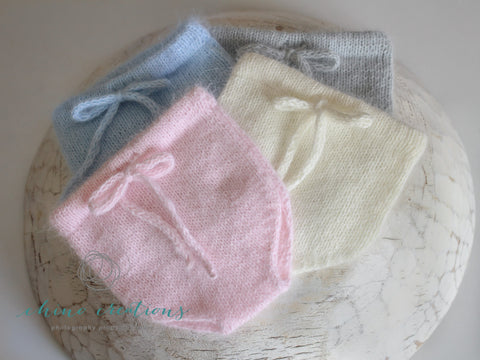 'Fitzroy' Fine Angora Plain Knit Bloomers - Newborn - All colours