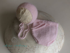 Fine Angora Plain Knit Bloomers - Newborn