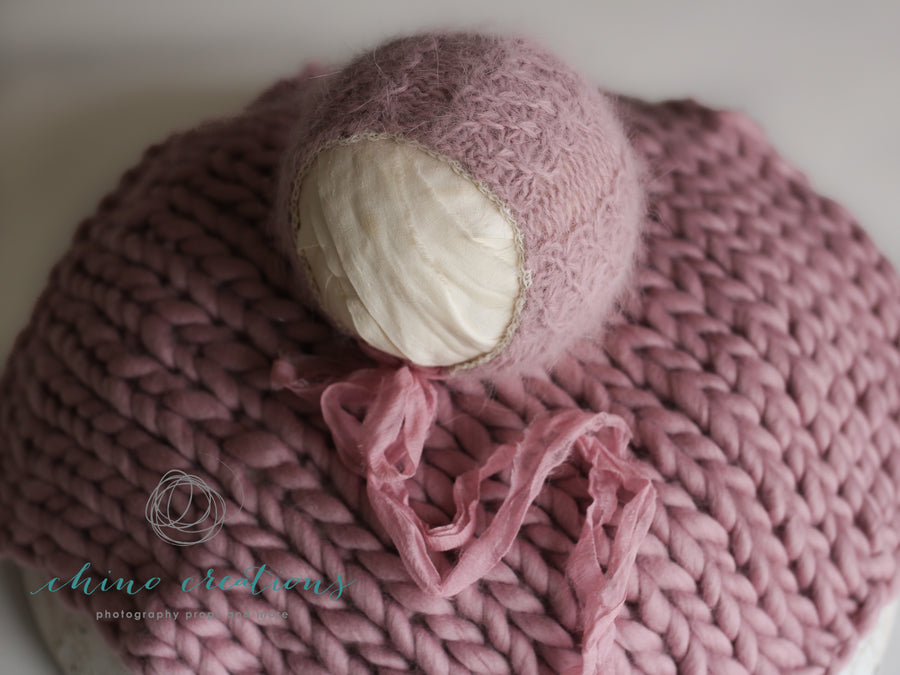 Victorienne - Newborn French Angora Bonnet & Layer Set