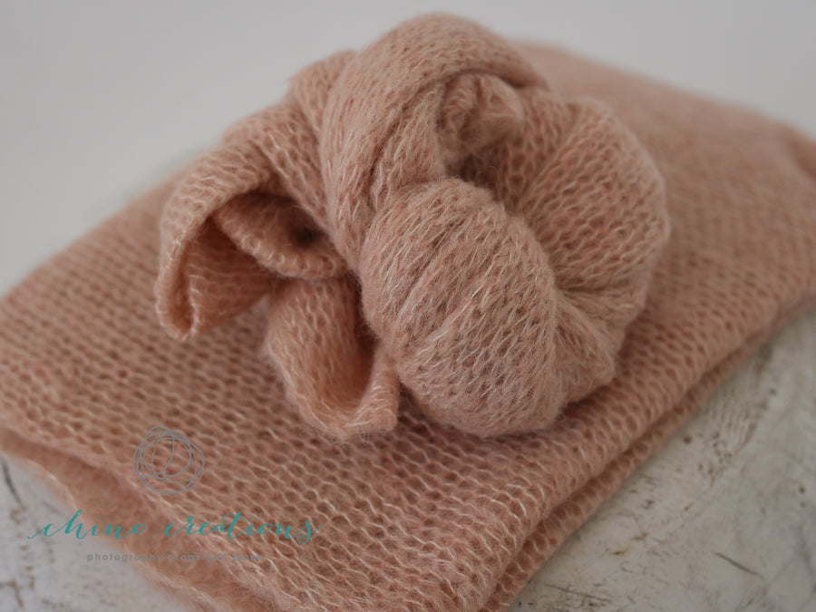Brushed Alpaca Wrap - Soft, fuzzy wraps in Pink Quartz