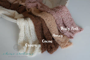 Cocoa - Shabby Knit Cotton Wrap - Textured Wrap Only