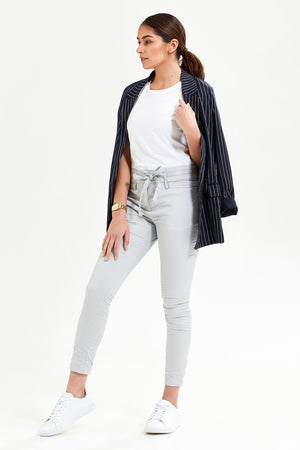 Csarite Slim Boyfriend - Light Grey