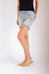 Swarovski Boyfriend Denim Short