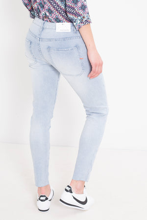 Morion Striped Boyfriend Jean