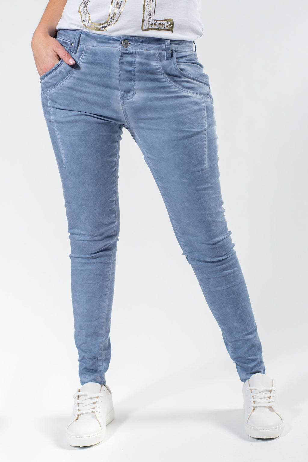 Greenbay Blue Boyfriend Pant