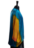 Hand Painted & Hand Constructed Beautiful Rappahannock River Silk Kimono Jacket
