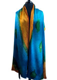 22x90 Original, One of a Kind Hand Painted Darcy Rappahannock River Multi Colored Shawl