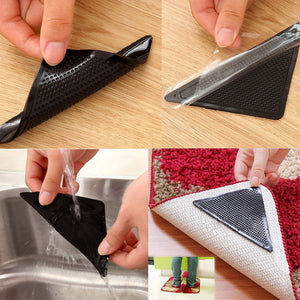 4pcs/set Eco-friendly and Reusable Silicon Rug Grippers
