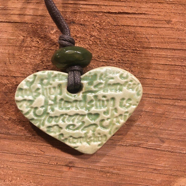 Irish friendship Heart Diffuser Necklace