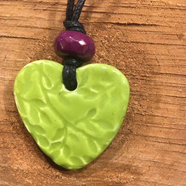 Lime Heart Necklace