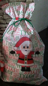Christmas name sack personalised