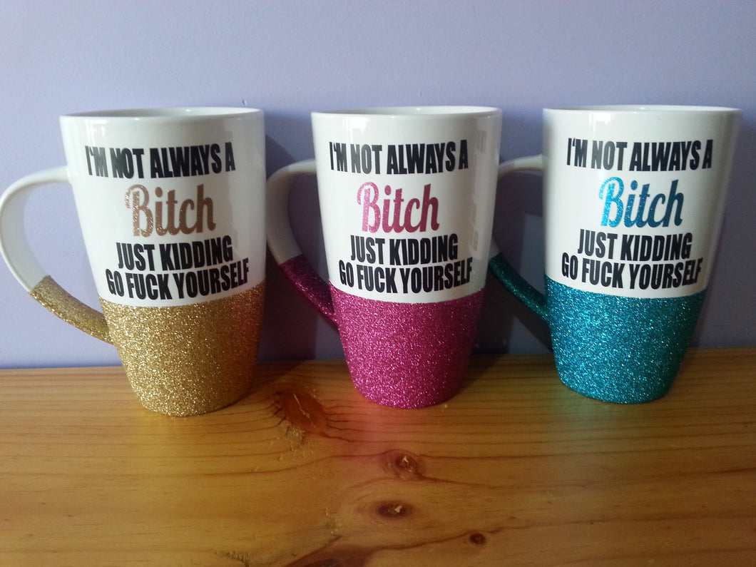 Glitter mug Personalised *PLEASE NOTE DUE TO CURING TURNAROUND IS APPROX 4 WEEKS PLUS POSTAGE UNLESS COLOUR IN STOCK*