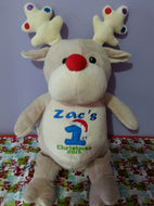 Personalised embroidered reindeer