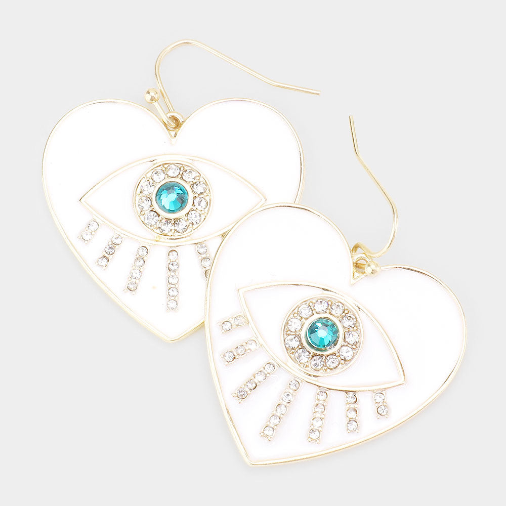 Evil Eye statement earrings