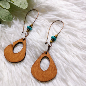 Marina Wood Drop Earrings