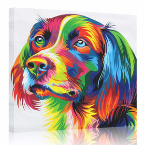 Modern Canvas Golden Retriever Dog Modern Canvas