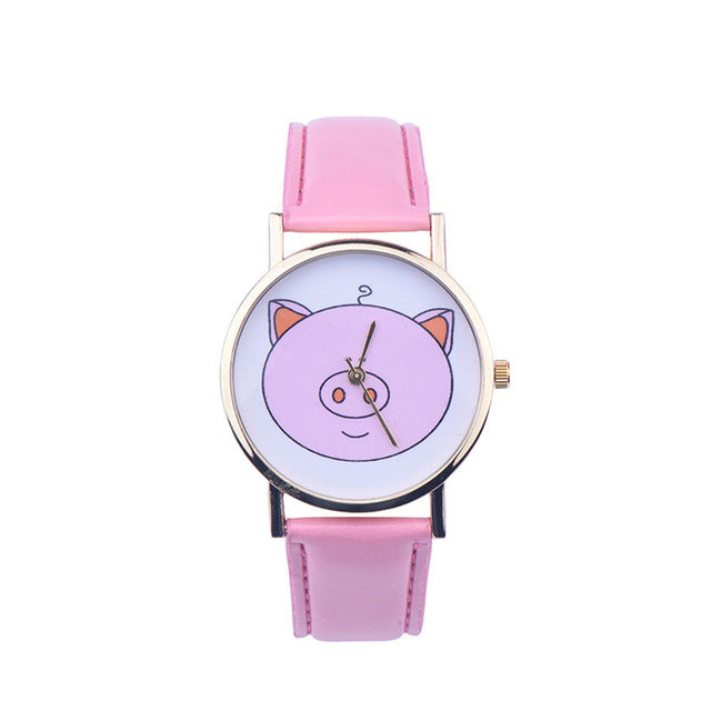 Cute Piggy Wristwatch