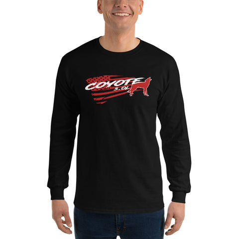 Coyote Red Flag Long Sleeve Shirt - Flores Custom Design