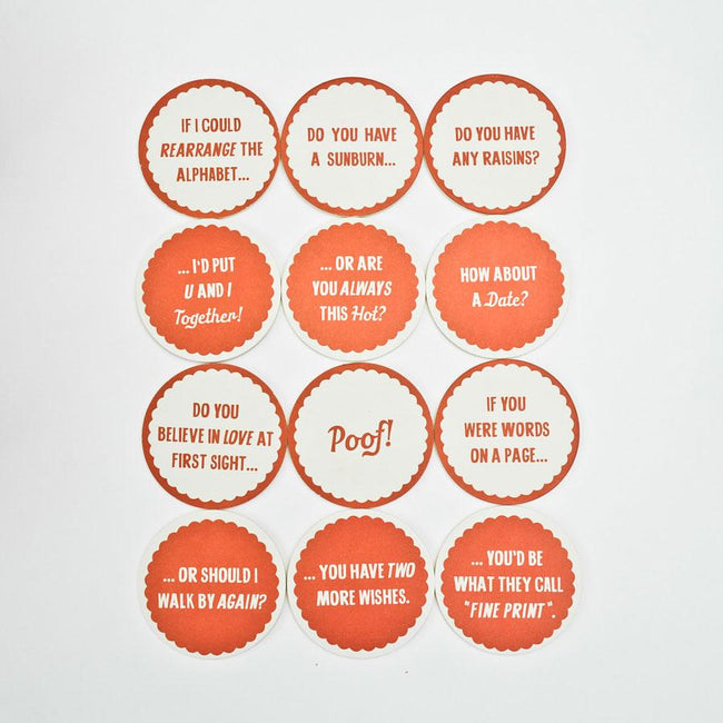 Pick Up Line Coaster Set