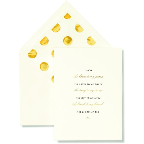 Kate Spade New York Bridal Note Card Set, Bridesmaid (Gold Dot)