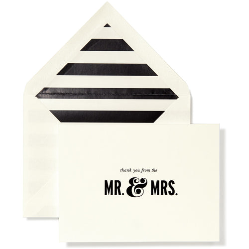 Kate Spade New York Bridal Note Card Set, Mr. & Mrs.