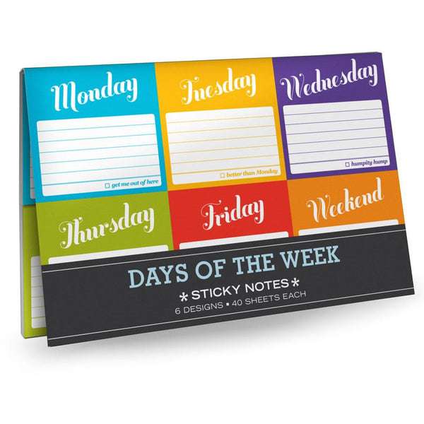 Sticky Note Pack - Days Of The Week