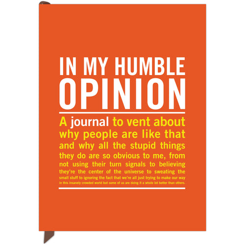 Large Journal - In My Humble Opinion